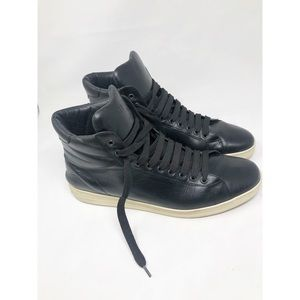 TOM FORD RUSSELL BLACK High Top Sneakers 14.5 T